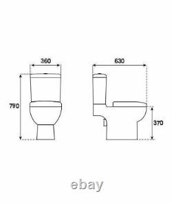 Kompact Freedom Close Coupled Toilet Pan WC 630mm softclose Seat