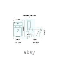 Line Traditional Close Coupled Toilet and Full Pedestal B BUN/BeBa 2108-PN/71884