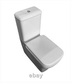 Melinda Fully Back to Wall Close Coupled Toilet Pan WC soft Seat