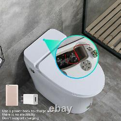 Modern Bathroom Toilet Close Coupled WC Soft Close Seat Electronic Bidet Toilet