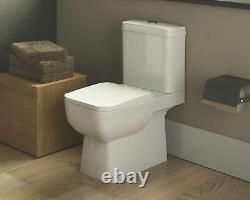 Modern Ceramic Square Toilet Design Close Coupled Bathroom Toilet WC Soft Close