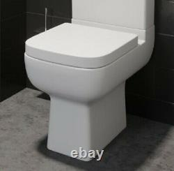 Modern Close Coupled Toilet Square White Ceramic (PAN ONLY)