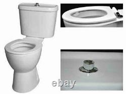 New Care Disabled Doc M Close Coupled Toilet Comfort Height Pan Ring Seat