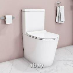 Newport Rimless Close Coupled WC and Soft Close Slim Seat