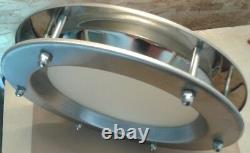 PORTHOLE FOR DOORS STAINLESS STEEL phi 350 mm. New