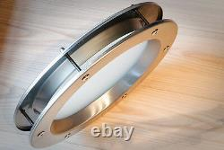 PORTHOLE VISION PANELS FOR DOORS phi 350 mm STAINLESS STEEL