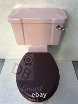 Pink Toilet Art Deco Pink Close Coupled Traditional Toilet