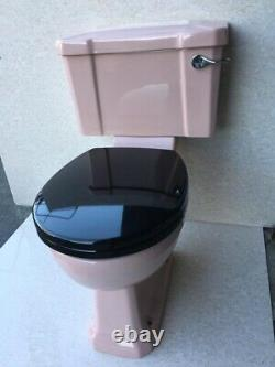 Pink Toilet Art Deco Style Pink Close Coupled Traditional Toilet