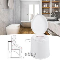 Portable Bathroom Toilet Close Coupled WC Soft Close Seat Pan Curved