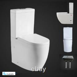 Power Flush Back To Wall WC Close Coupled Toilet Sot Closing Seat NEW Modern