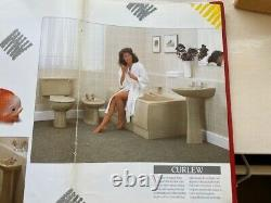 Qualcast Curlew Close Coupled pan and cistern in Olive and Ivory ombré