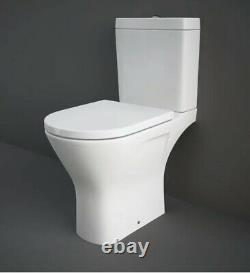 RAK Resort Maxi Rimless Close Coupled Full Access Toilet Pan WC Pack Soft Seat