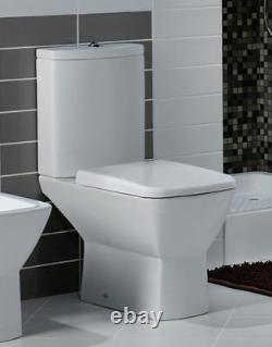 RAK Summit Close Coupled WC Pan With Soft Close Toilet Seat 650mm