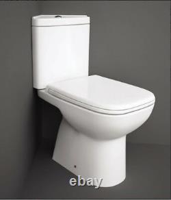 Rak Origin Corner Close Coupled Toilet pan Space Saving WC Set Soft Close Seat