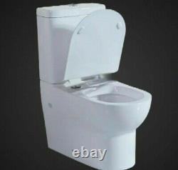 Rico Luxurious Close Coupled Toilet WC Soft Closing Seat Cistern Modern Improved