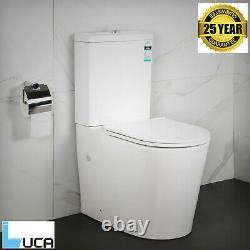 Round Rimless Close Coupled Toilet Free Soft Closing Seat Antibacterial Design