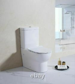 S-Wave Mode Close Coupled D Shape Fully Back to wall Toilet Pan WC Soft Seat