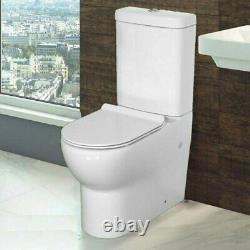 S-Wave Mode Close Coupled D Shape Open Back Toilet Pan WC Soft Seat