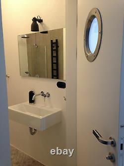 STAINLESS STEEL PORTHOLE VISION PANELS FOR DOORS phi 350 mm. Lovely. New