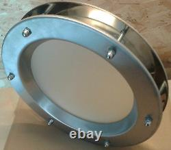STAINLESS STEEL PORTHOLE VISION PANELS FOR DOORS phi 350 mm. New