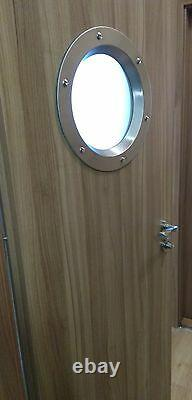STAINLESS STEEL PORTHOLE VISION PANELS FOR DOORS phi 350 mm. New. Beautiful