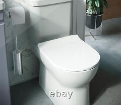 Saneux Air Rimless Closed Coupled Toilet With Cistern & Soft Close Seat, WRAS