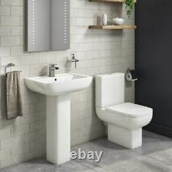 Seren Close Coupled Toilet and Full Pedestal Basin Suite