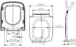 Space Saving Close Coupled Rimless Toilet Cistern Pan Soft Close Seat White