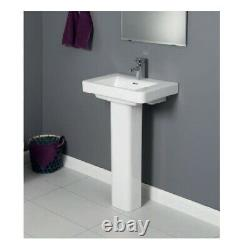 Square Compact clock room Short Projection Close Coupled Toilet basin pedestal