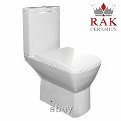 Summit Close Coupled Toilet WC Push Button RAK Cistern Soft Close Seat