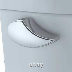 TOTO Entrada Close Coupled Elongated Toilet Cotton White, 1.28 GPF TOTO