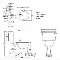 TRTC Art Deco Green Close Coupled Toilet Traditional New
