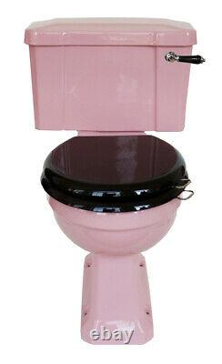 TRTC Art Deco Pink Close Coupled Toilet Traditional New