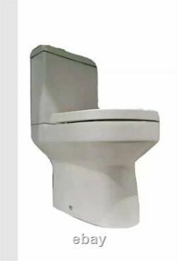 Tavistock Modern Close Coupled Toilet Pan Soft Close Seat Round Open Back WC