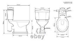 Tavistock Vitoria Close Coupled Toilet ceramic lever Wc Pan solid Oak soft seat