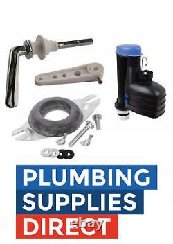 Toilet Close Coupled Fittings Pack for Cistern Lever / 8 Syphon Full Kit