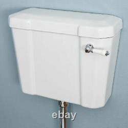 Traditional Close Coupled Toilet Low High Level Pan Cistern Ceramic Oak White WC