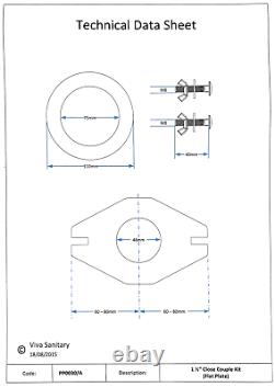 Viva Pp0030/a 1.1/2 Cistern Close Coupling Conversion Kit Flat Plate Doughnut